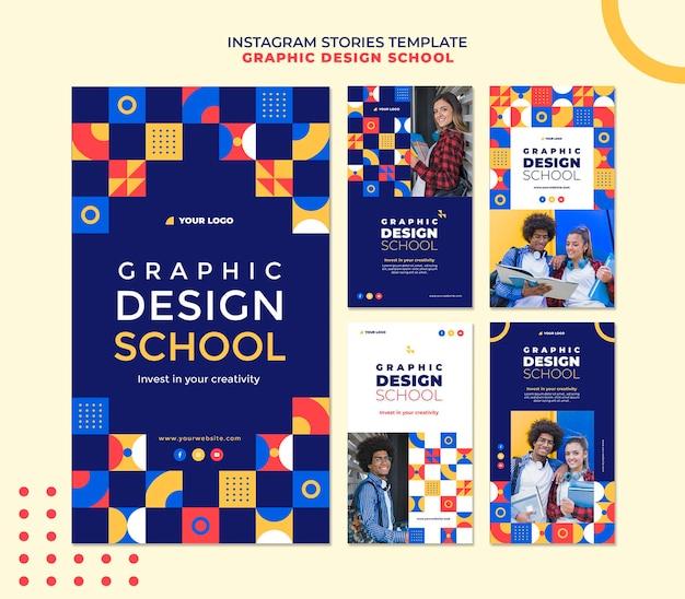 Graphic design school instagram stories
