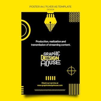 Graphic design services print template