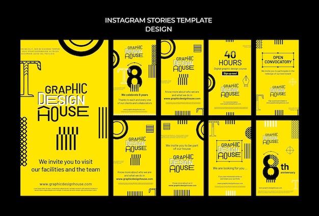 Услуги по графическому дизайну истории в социальных сетях