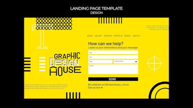 Веб-шаблон услуги графического дизайна