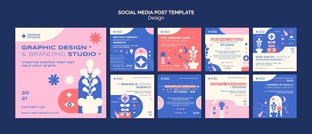 그래픽 디자인 소셜 미디어 게시물