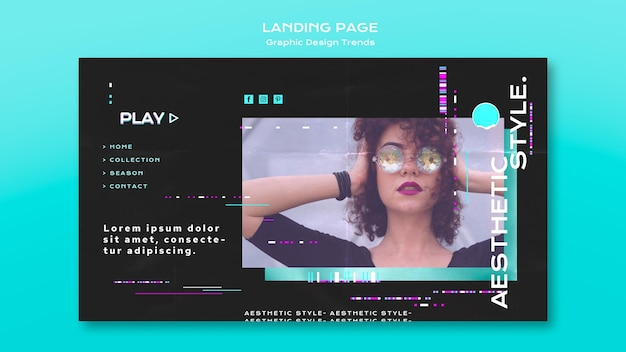 Graphic design trends landing page