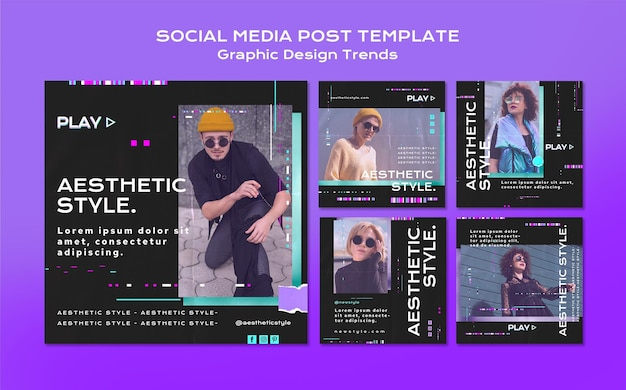 Graphic design trends social media post