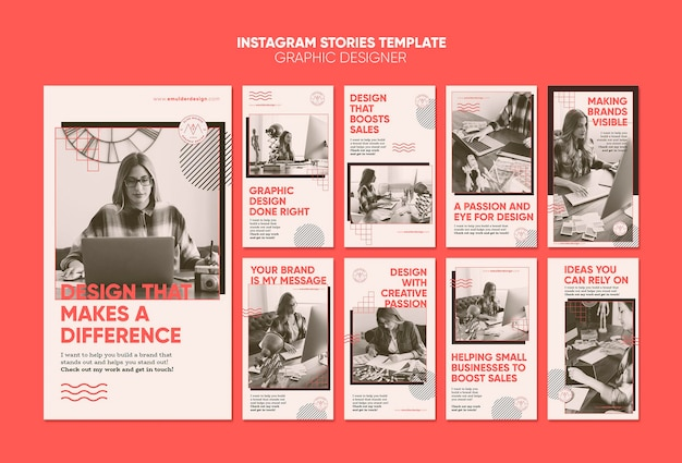 Graphic designer instagram stories