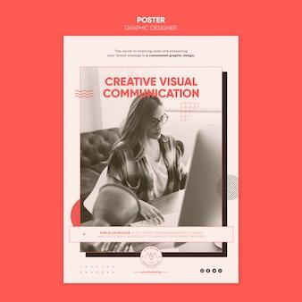 Графический дизайнер плакат