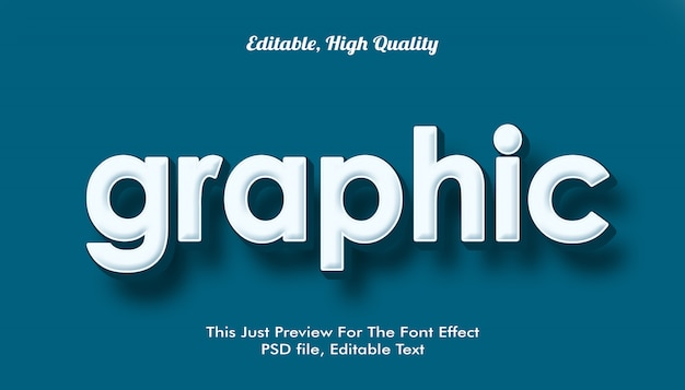 Graphic,  modern styled 3d trendy font effect