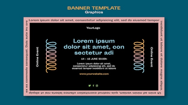 Graphics banner template