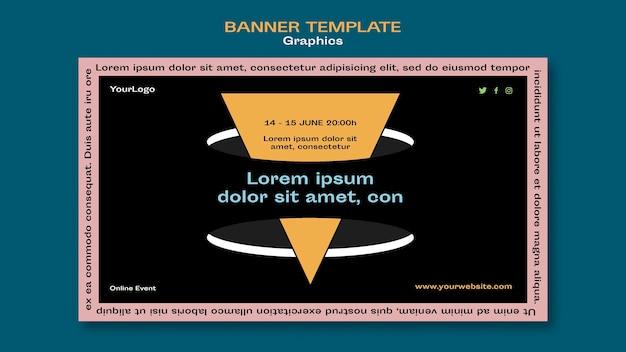 Графический баннер шаблон