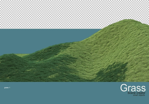 Grass slopes of different levels