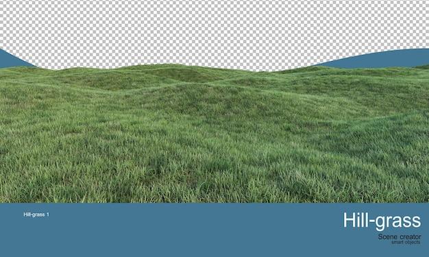 Травянистые насыпи с множеством уровней