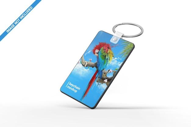 Gravity keychain mockup