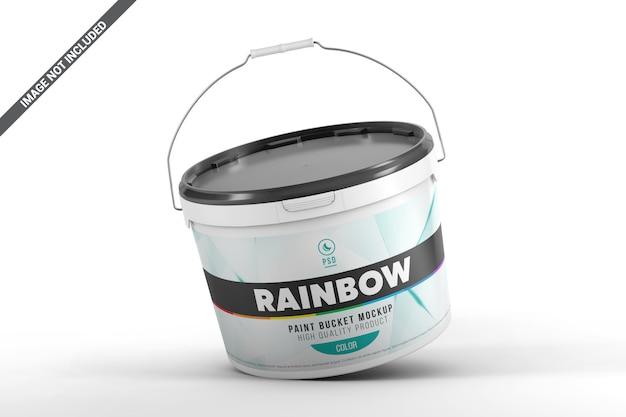 Gravity paint bucket mockup