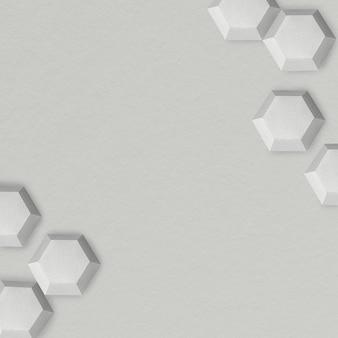 Gray geometric paper craft design background