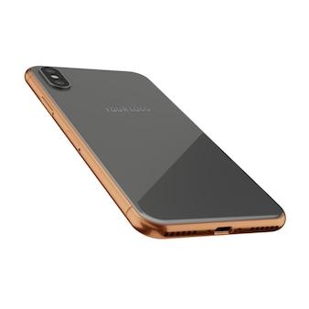 Серый & золотой мобильный макет