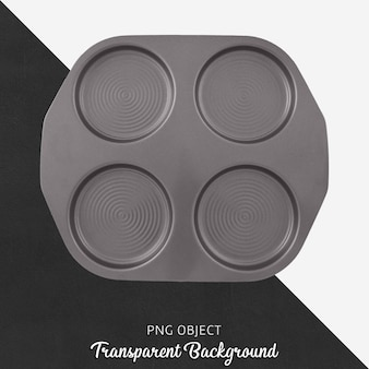 Gray pancake tray top view