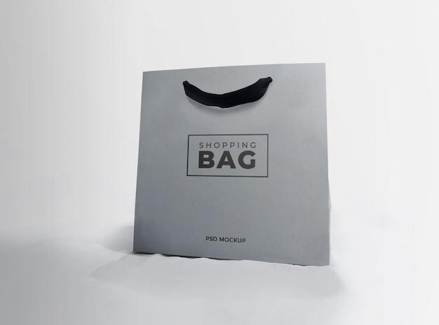 Gray shopping paper bag