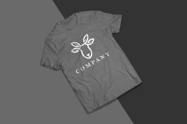 비즈니스를위한 회색 티셔츠 모형 디자인