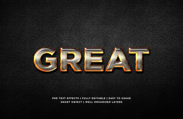 Great 3d text style effect