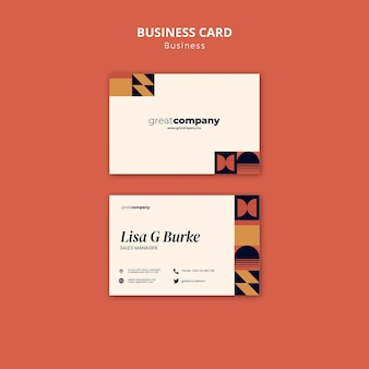 Отличный шаблон визитной карточки компании