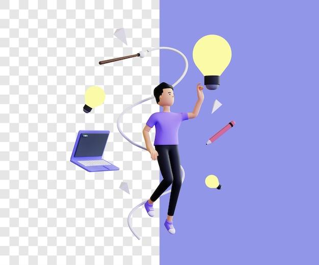 素晴らしいアイデア3dイラストのコンセプト