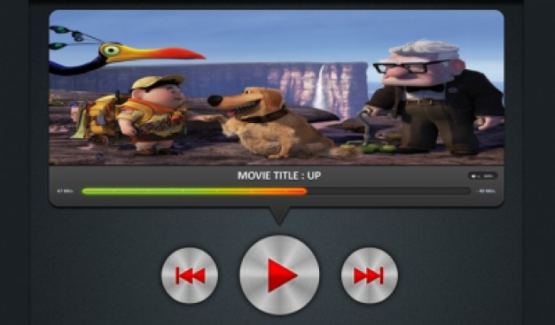 Great video player psd