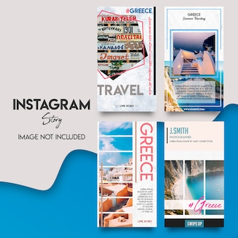 Greece instagram srories template set