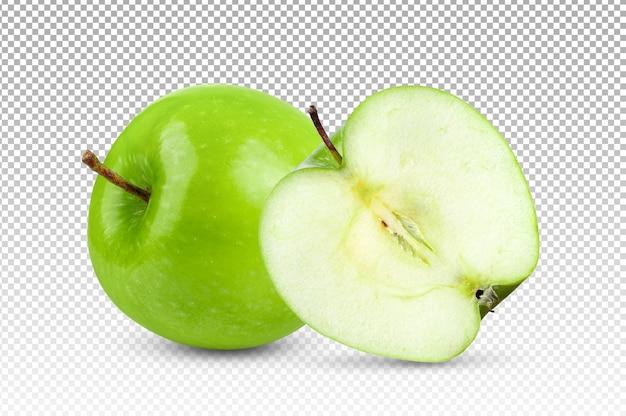 Зеленое яблоко изолировано