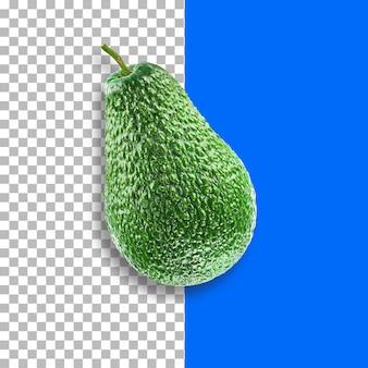 緑のアボカドフルーツ透明な背景に分離。