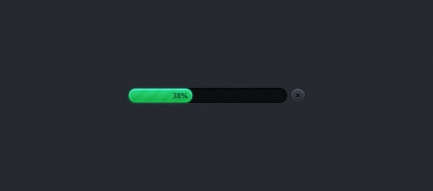 Green bar progress bar psd