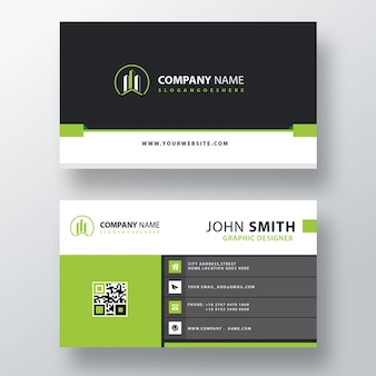 Green business card template