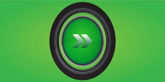 Green button design PSD