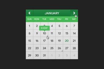 Green calendar psd material