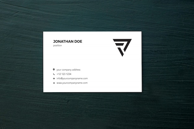 Green cement businesscard mockup