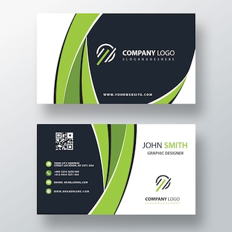 Green corporate card mockup