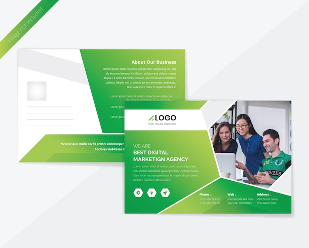 Green corporate post card design
