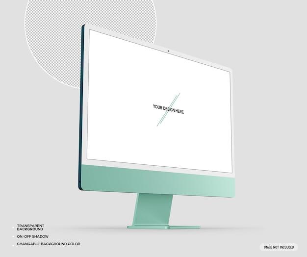 녹색 데스크탑 컴퓨터 프로토 타입