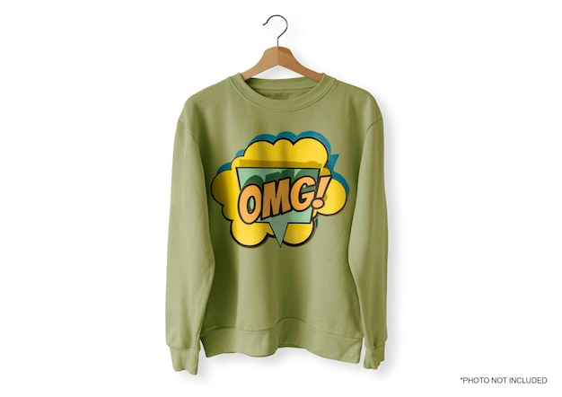 녹색 앞 스웨터 목업