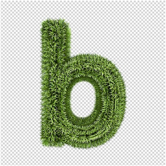 緑の草の手紙 3 d レンダリング