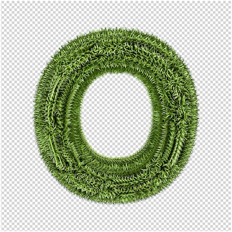 Green grass letters 3d rendering