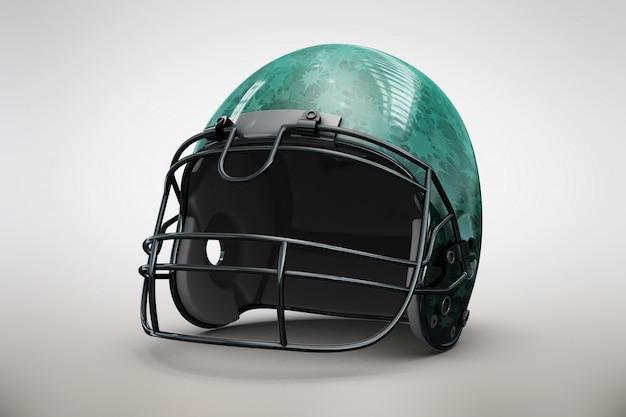 녹색 헬멧을 모의