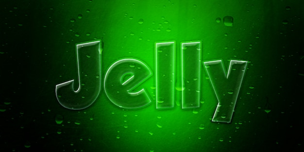 Green jelly text style effect