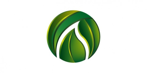Green leaves logo template