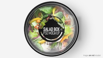 GREEN MIX SALAD BOX WITH LAYER