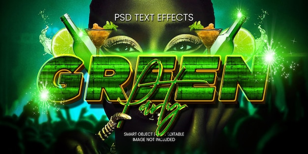 Green party text effect