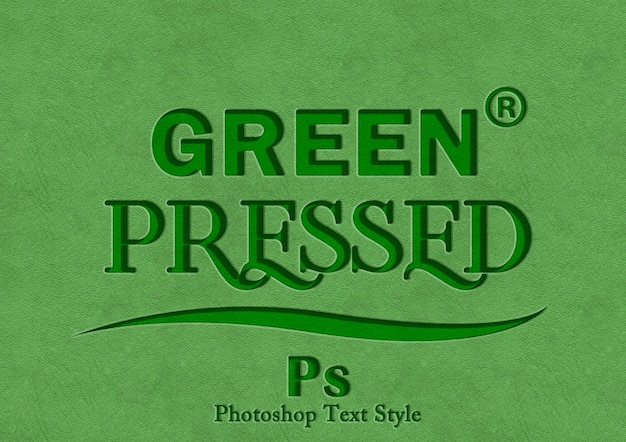 Green press text style effect