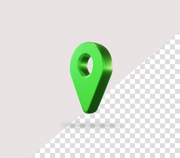 녹색 현실적인 3d 지도 핀 위치 아이콘