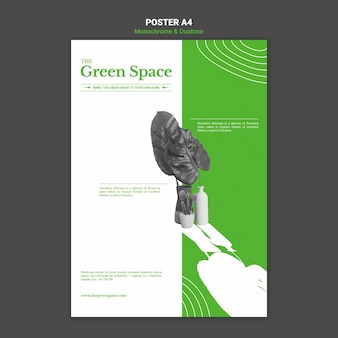 Green space poster template