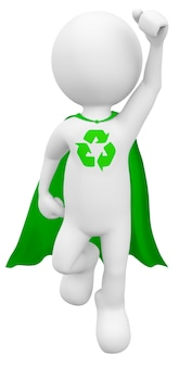 Green superhero.