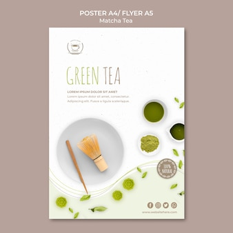 緑茶のポスター/チラシテンプレート