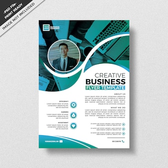 Green teal creative style flyer template design
